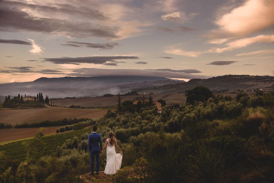 val d'orcia willa, plener ślubny w Toskanii, zagraniczna sesja ślubna