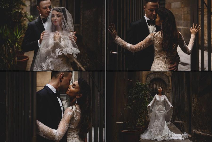 zagraniczny plener ślubny, sesja w barcelonie, pronovias