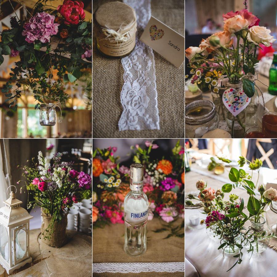 rustykalna dekoracja, rustykalne detale, polne kwiaty, hacjenda dolina zab