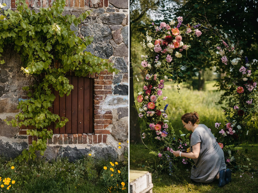 folwark wąsowo, romantyczny ślub w plenerze, rustykalne wesele, wesele w stodole, ceremonia plenerowa