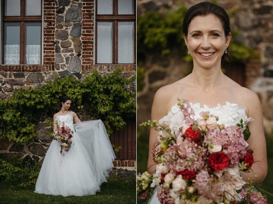 panna młoda, wesele w folwarku wąsowo, suknia ślubna britta kjerkegaard