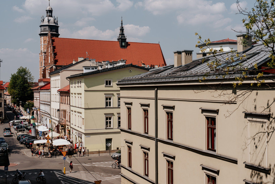 Kazimierz, Kraków, widok z okna na Kazimierz
