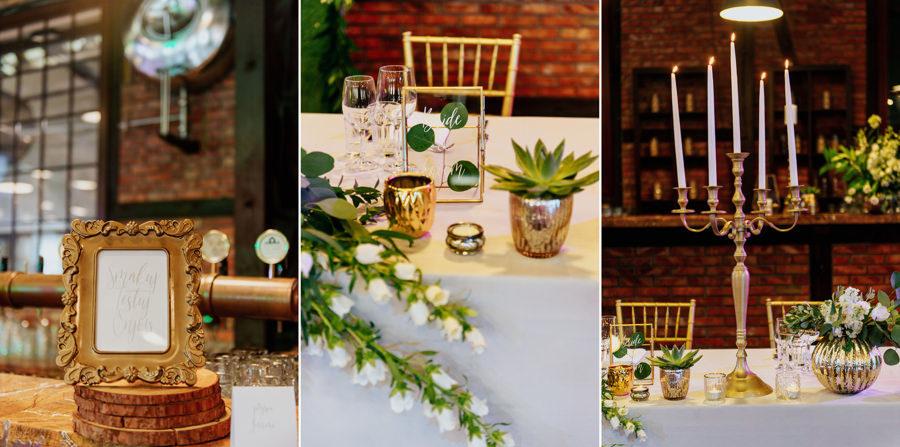 Detale ślubne, dekoracja, florysytka, industrialne wesele