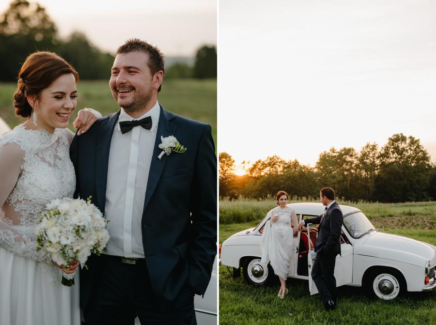 biała syrena auto, samochód do ślubu, polski klasyk,