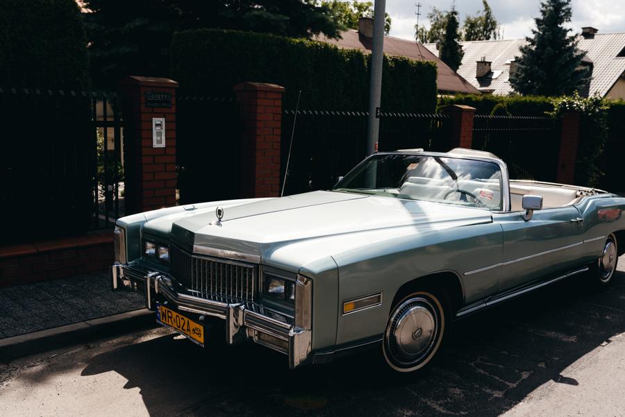 ciekawe auto do ślubu, amerykański samochód