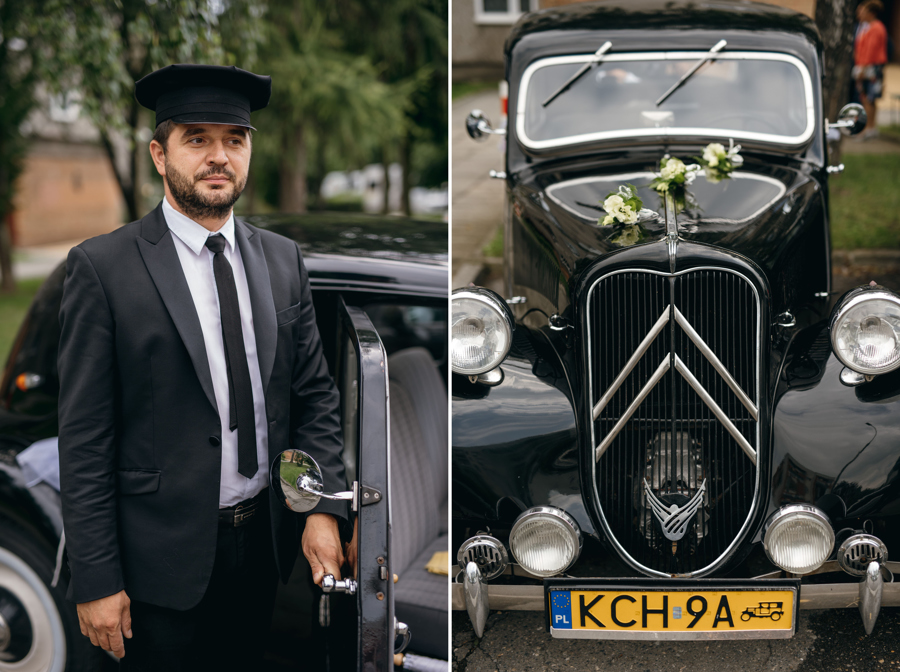citroen z lat czterdziestych, lata 40ste , oldschoolowy samochód do ślubu, citroen BL11