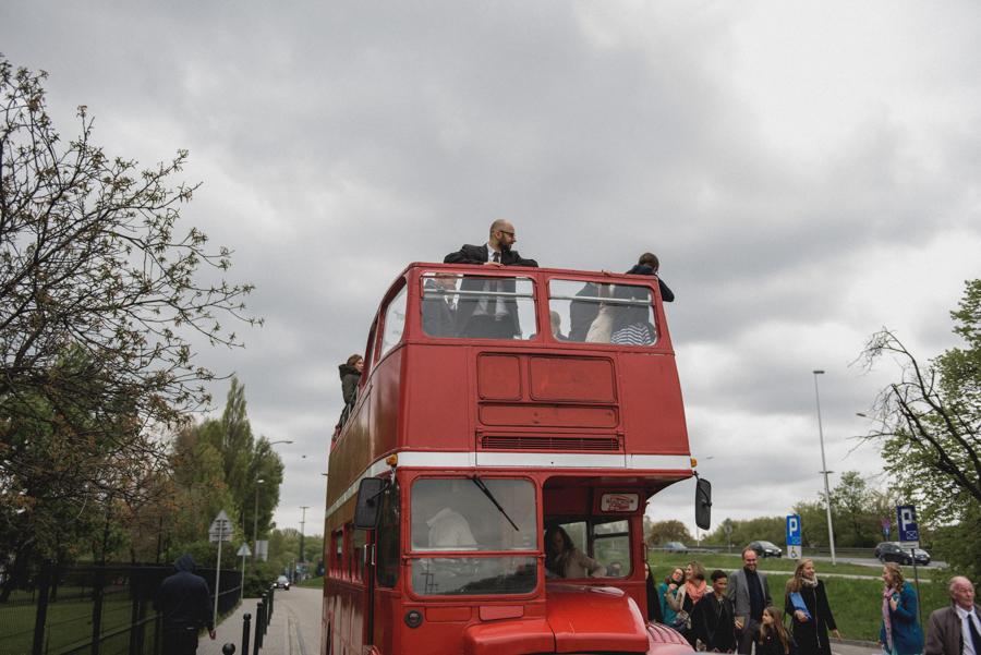 autobus do slubu, angielski pietrowy autobus
