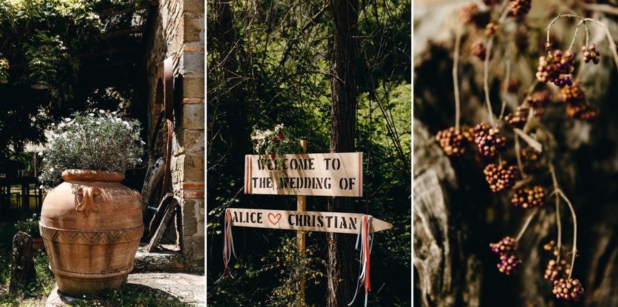 detale weselne, boho wesle w jurcie, toskania, slub we włoszech