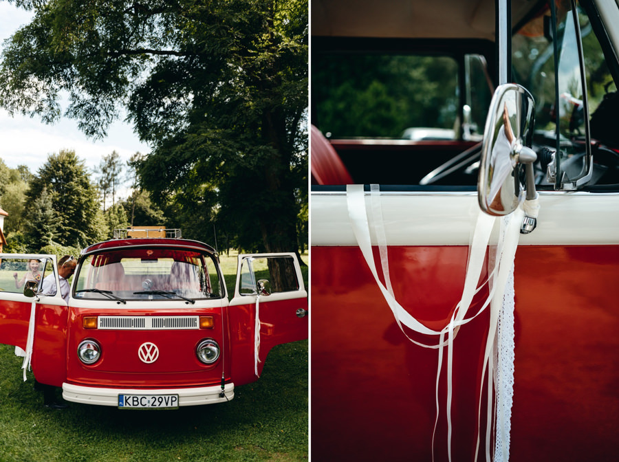ogórek do ślubu, samochód do ślubu