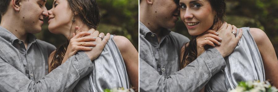 Elopement w Polsce, ślub w górach, ślub nad morskim okiem, sesja w deszczu