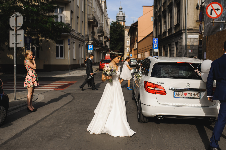 ulica samochod slubny krakow