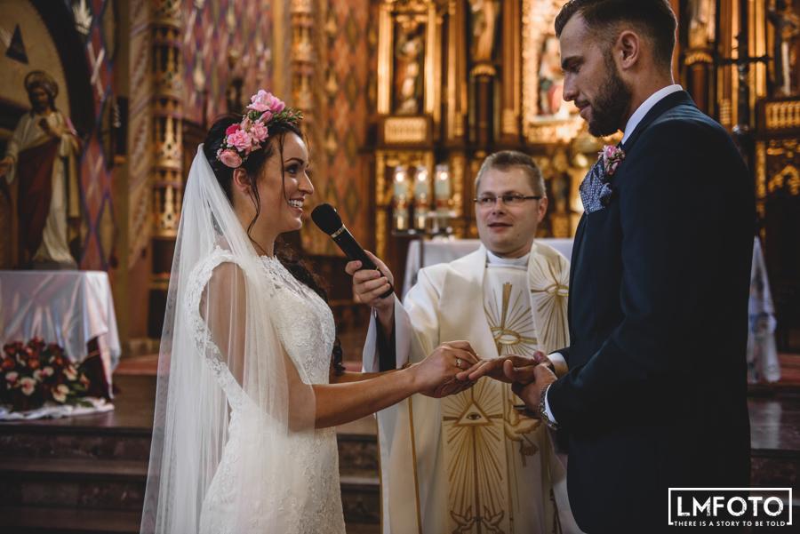 obraczki msza ceremonia wianek