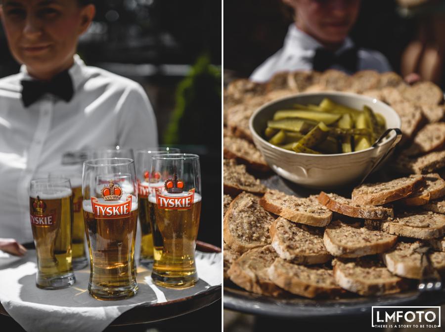 piwo chleb smalec jedzenie