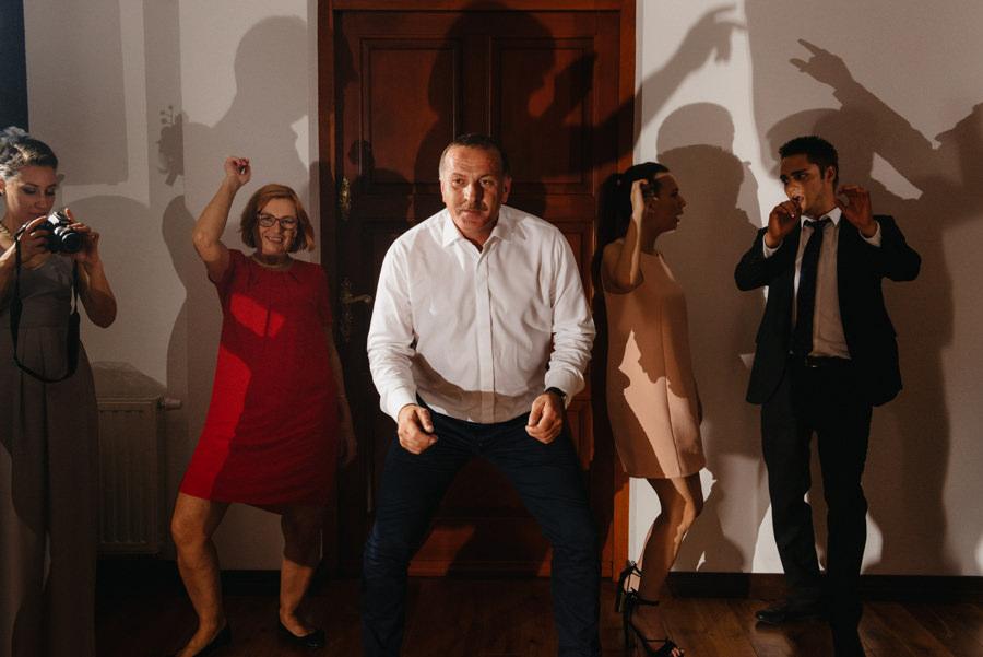 taniec ruch cienie przyjecie