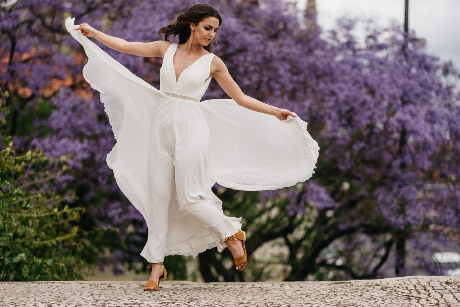 drzewo suknia slubna taniec