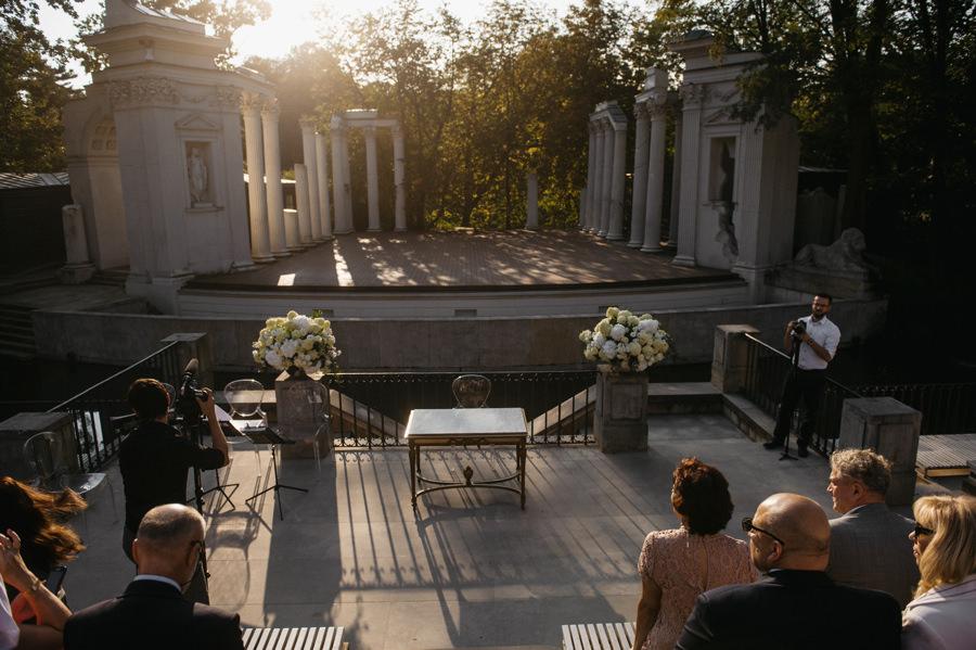 amfiteatr w Łazienkach Królewskich, ceremonia zaślubin, Ślub plenerowy w Warszawie