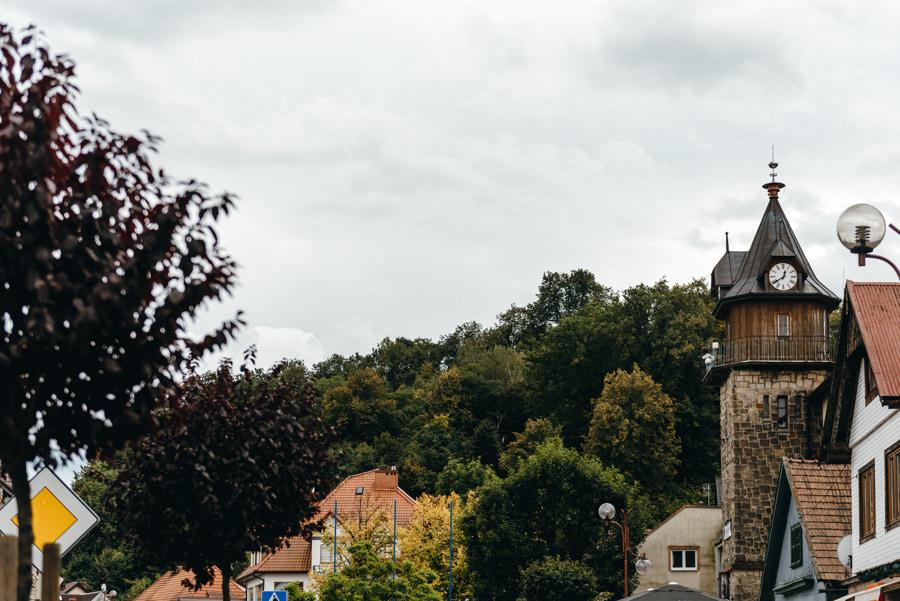 Dobczyce, widok na wieżę strażnicy,