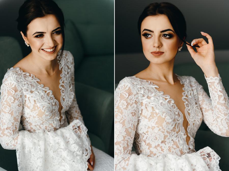 panna młoda przygotowuje się do ślubu, fotografia ślubna Bochnia, portret panny młodej