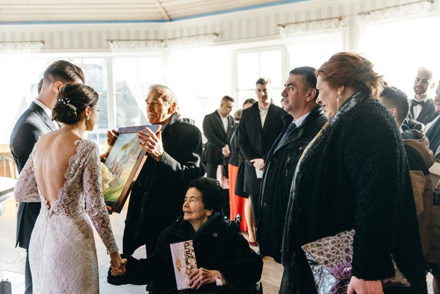 życzenia dla pary młodej, wzruszające momenty, reportaż ślubny, Hotel Panorama Garden, wesele, reportaż ślubny, Fotograf Bochnia