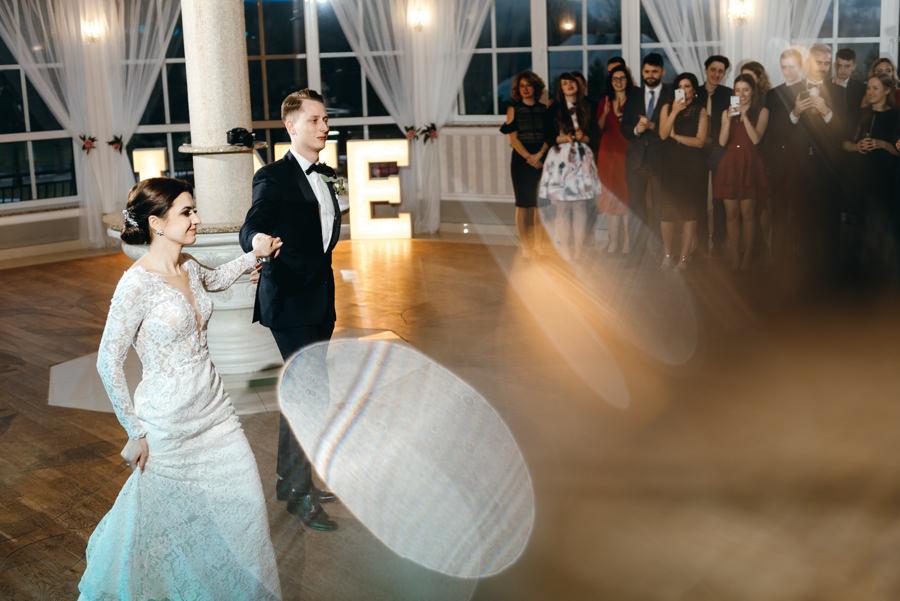 pierwszy taniec pary młodej, Hotel Panorama Garden, wesele, reportaż ślubny, Fotograf Bochnia