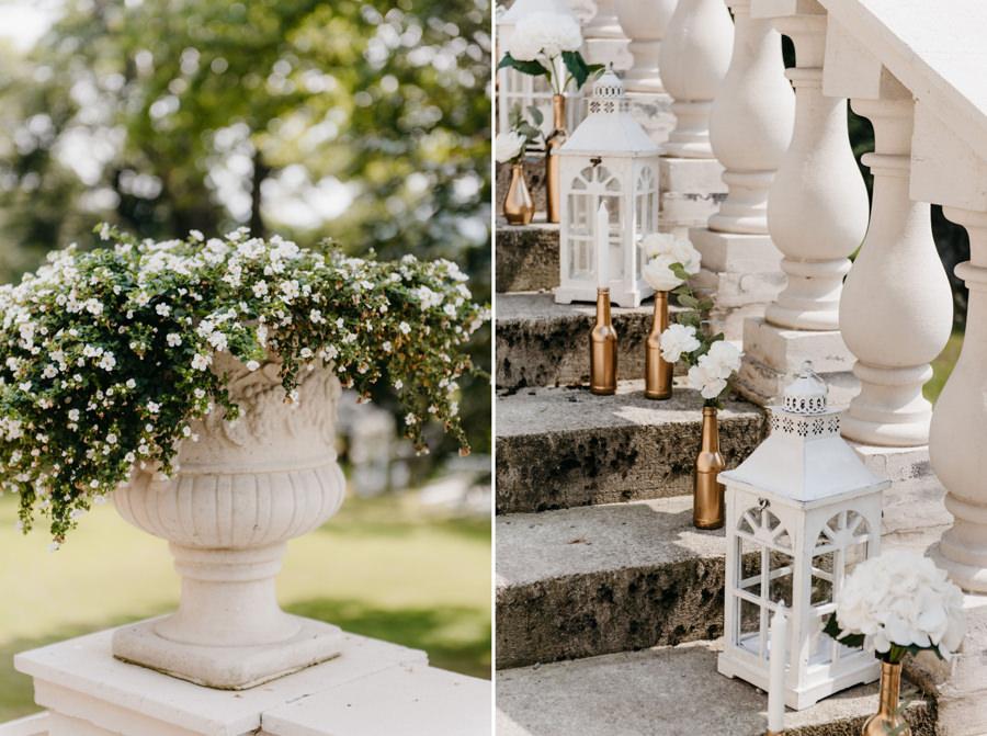 dwór sieraków, wesele w małopolsce, eleganckie wesele, detale dworu sierakó, lampiony