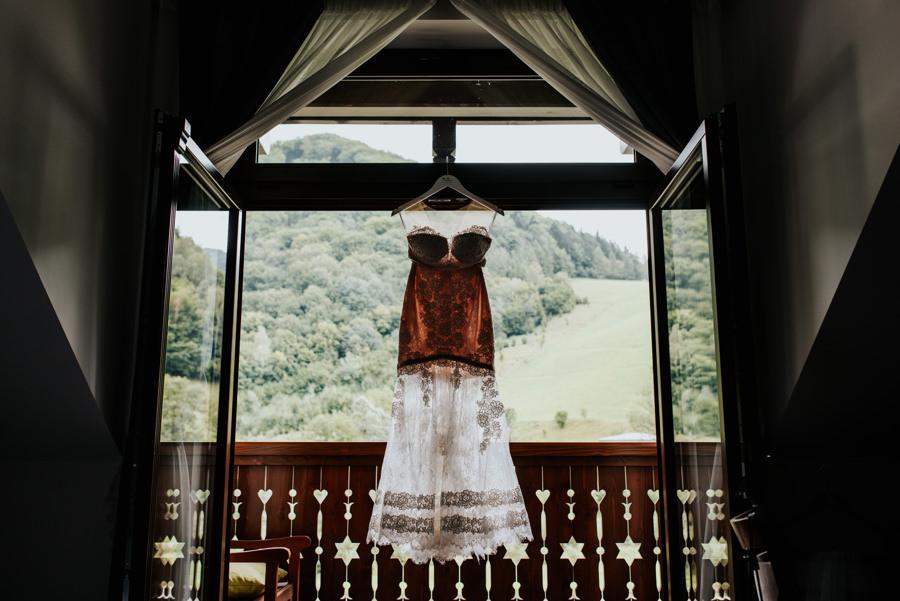 suknia ślubna, willa poprad, przygotowania panny młodej, przygotowania w willa poprad
