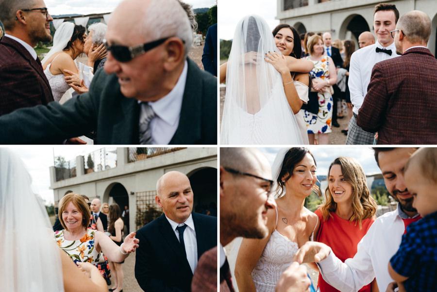 ślub w Villa Love, życzenia dla nowożeńców, taras w villa love