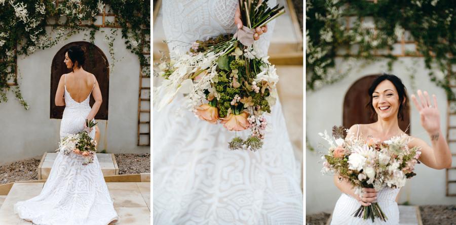 ślub w Villa Love, wesele w toskańskim klimacie,, portret panny młodej, sesja zdjęciowa w dniu ślubu