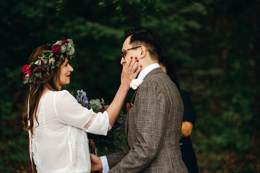 stara kruszarnia, ślub w plenerze, ceremonia cywilna, łzy wzruszenia, emocje